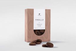 Scatola di frolle al Le frolle al Cioccolato gran cru e fior di sale